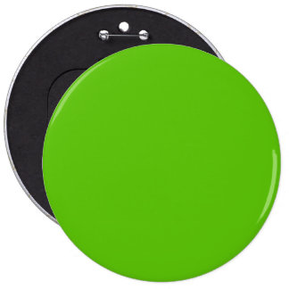 Margarita Lime-Acid Lime-Green Uptown Girl Wedding 6 Inch Round Button