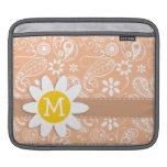 Margarita linda; Color Paisley del albaricoque; Fl Funda Para iPads
