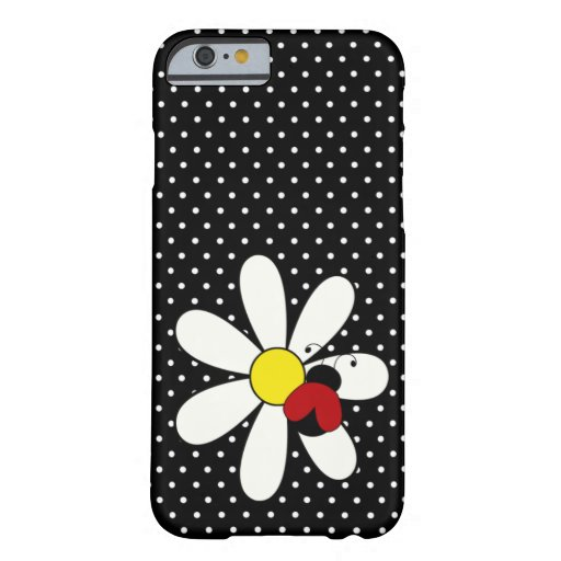 Margarita linda de la mariquita funda de iPhone 6 barely there