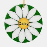 Margarita linda personalizada ornaments para arbol de navidad