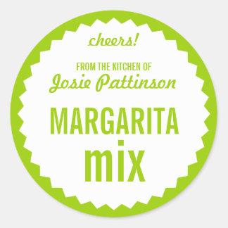 Margarita Mix Bottle Label Template