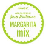 Margarita Mix Bottle Label Template Round Sticker