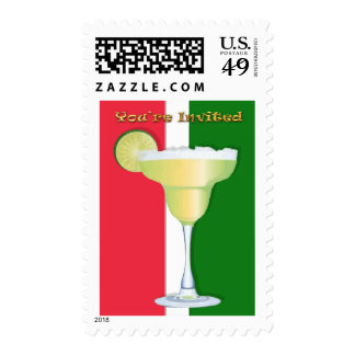 Margarita on Mexican Colors You're Invited Stamps
