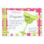 "Margarita Party 3.5"" X 5"" Invitation Card"
