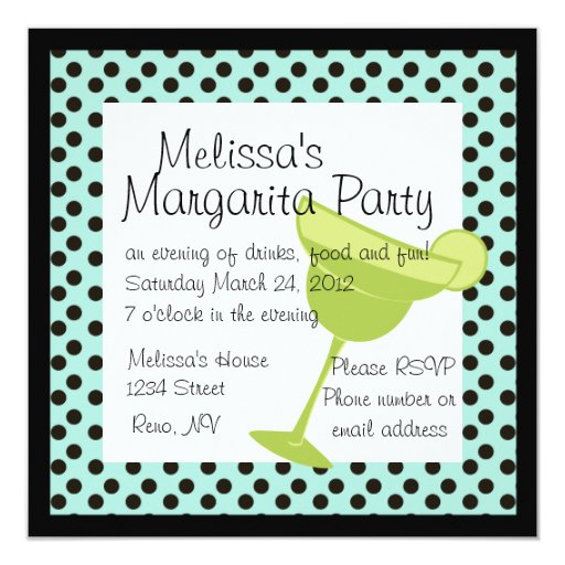 Margarita Party Card