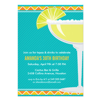 Margarita Party Invitation Invitations