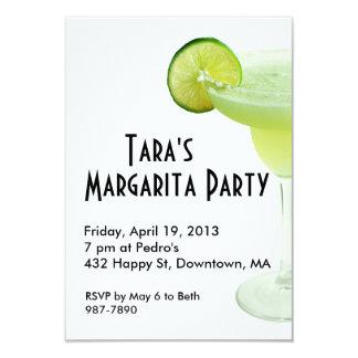 """Margarita Party Invitation 3.5"""" X 5"""" Invitation Card"""