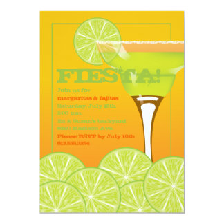 """Margarita Party Invitation 5"""" X 7"""" Invitation Card"""