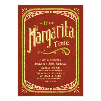 Margarita Party Invitations - Red Fiesta Party