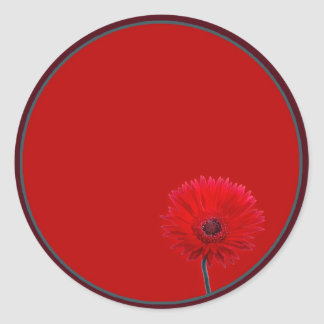 Margarita pintada pegatina redonda