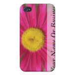 Margarita pintada rosas fuertes iPhone 4 carcasas