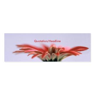 Margarita pintada tarjetas de visita mini
