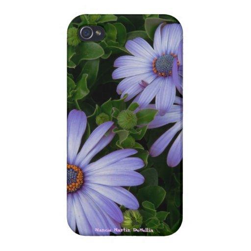 Margarita púrpura bonita - caso de IPHONE 4 iPhone 4/4S Carcasa