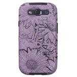 Margarita púrpura del Gerbera de Camo Samsung Galaxy S3 Carcasas