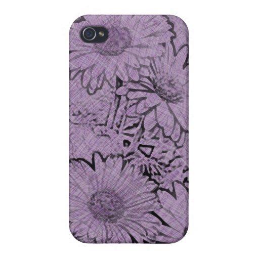 Margarita púrpura del Gerbera de Camo iPhone 4/4S Funda