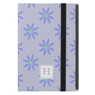 Margarita púrpura del monograma: Caso del iPad del iPad Mini Cárcasas