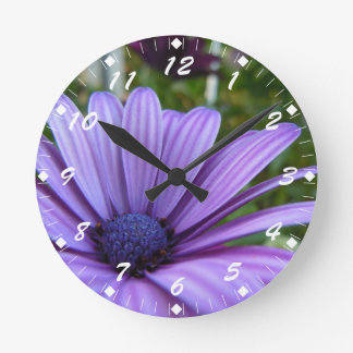 Margarita púrpura dulce reloj