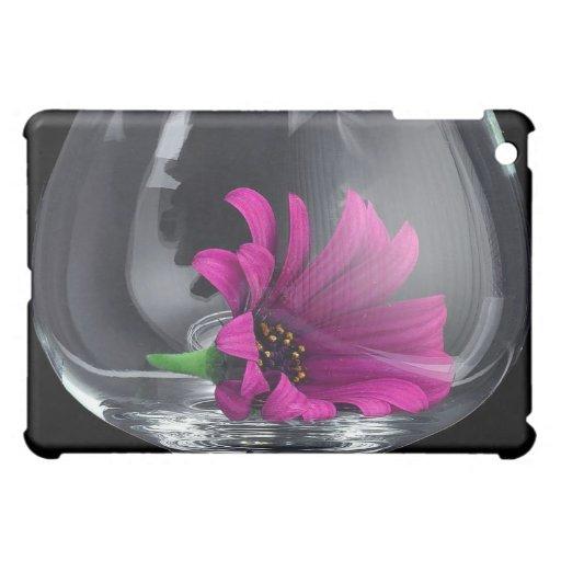 Margarita púrpura en vidrio iPad mini funda
