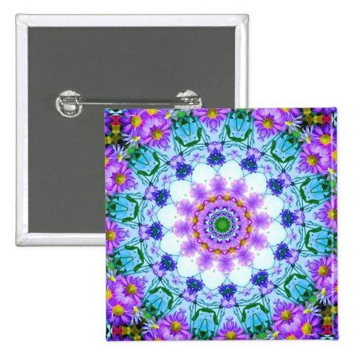 Margarita púrpura geométrica pin