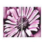 Margarita púrpura lienzo envuelto para galerias