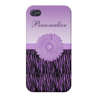 Margarita púrpura linda del gerbera en modelo de l iPhone 4 carcasas