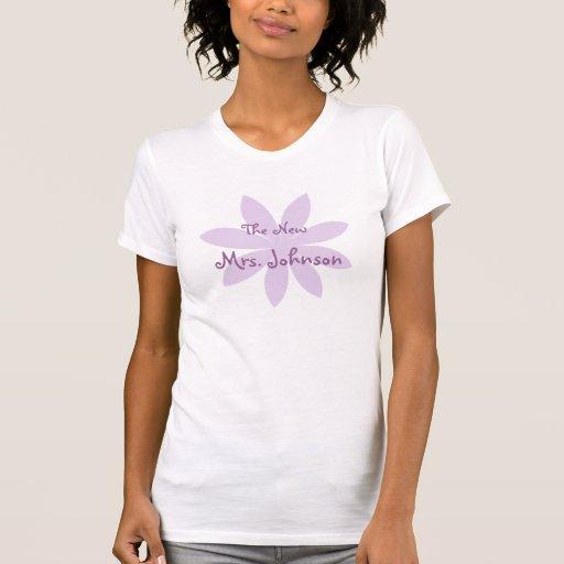 Margarita púrpura nupcial camiseta