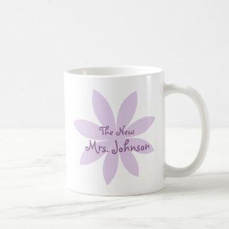 Margarita púrpura nupcial tazas de café