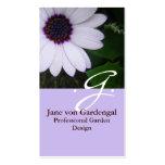 Margarita púrpura plantilla de tarjeta de visita