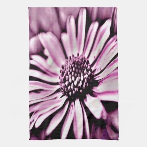 Margarita púrpura toalla de cocina