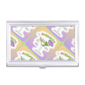 MARGARITA RECIPE COCKTAIL ART CASE FOR BUSINESS CARDS