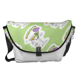 MARGARITA RECIPE COCKTAIL ART COURIER BAG