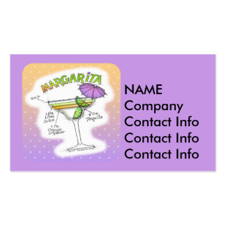 MARGARITA RECIPE COCKTAIL ART Double-Sided STANDARD BUSINESS CARDS (Pack OF 100)