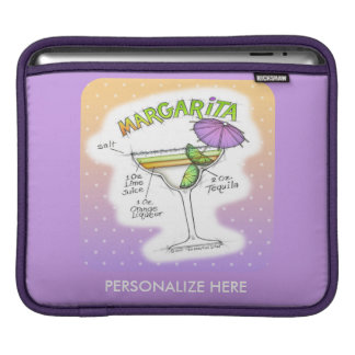 MARGARITA RECIPE COCKTAIL ART iPad SLEEVE