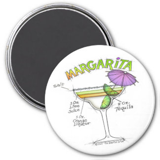 MARGARITA RECIPE COCKTAIL ART MAGNET