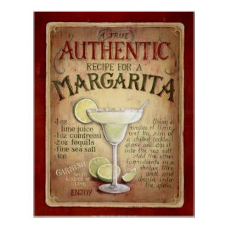Margarita Posters | Zazzle