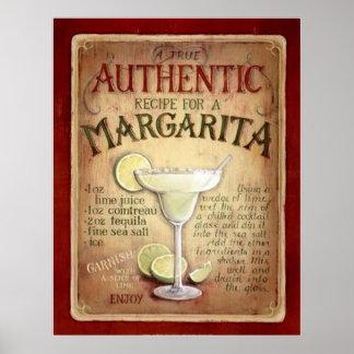 margarita recipe posters