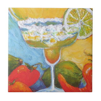 Margarita Red Chile Peppers Tile