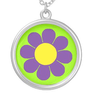 Margarita retra del flower power del estallido pendientes personalizados