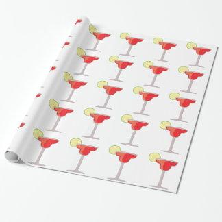 Margarita roja papel de regalo