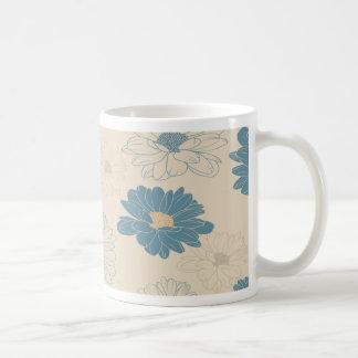 Margarita romántica retra linda taza clásica