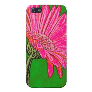 Margarita rosada abstracta del Gerbera iPhone 5 Protector