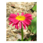 Margarita rosada brillante membrete