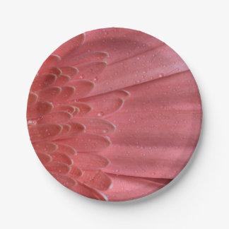 Margarita rosada coralina bonita del Gerbera Plato De Papel 17,78 Cm