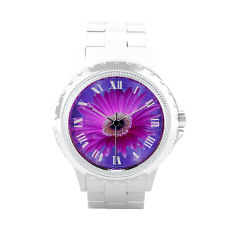 Margarita rosada de Gerber Reloj De Mano