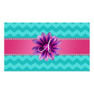 Margarita rosada de los galones de la turquesa del tarjetas de visita