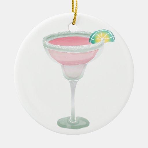Margarita rosada adornos