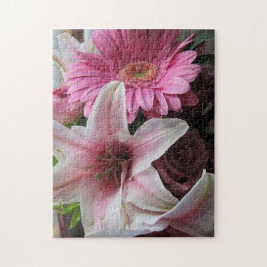 Margarita rosada del lirio/del Gerbera Puzzle