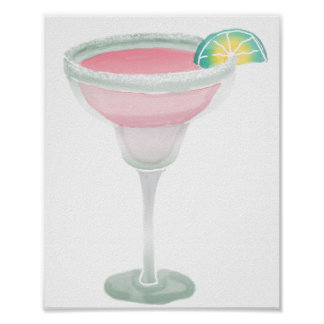 Margarita rosada poster