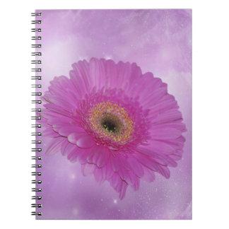 Margarita rosada y púrpura de Gerber Libros De Apuntes Con Espiral