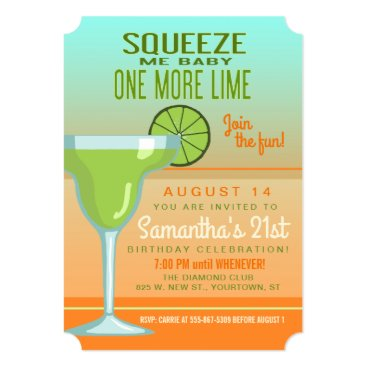 Toddler & Baby themed Margarita   Squeeze Me Baby One More Lime Card
